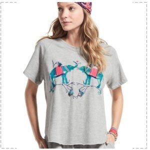 Anthropologie Banjanan Kissing Elephants top Sm